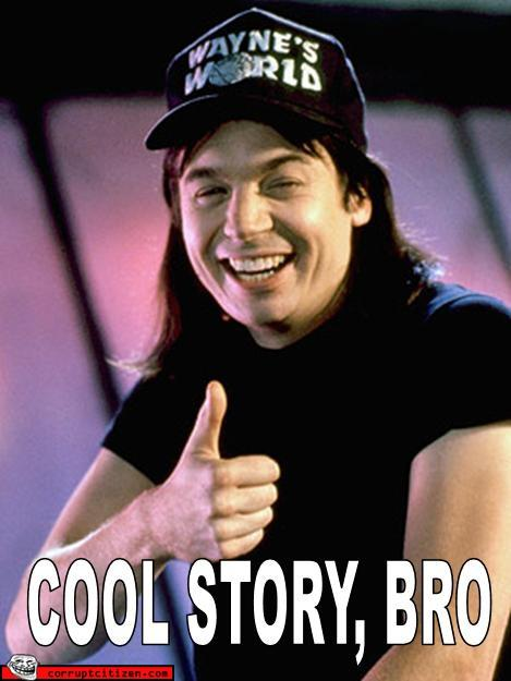 Image result for cool story bro waynes world