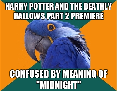 Harry Potter and the Deathly Hallows Part 2 premiere   confused my