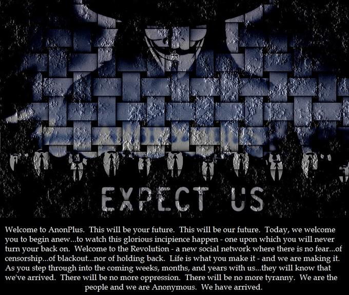 EXPECT US Welcome To AnonPlus This Will Be Your Future Our