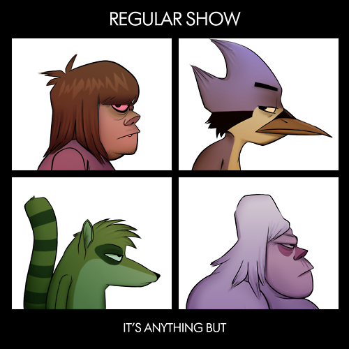 Regular Show Gorillaz Demon Days Cover Parodies Know Your Meme