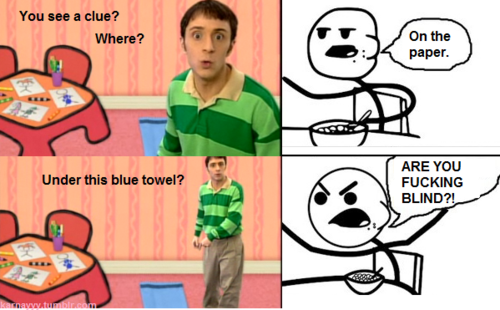 Blues Clues Cereal Guy Know Your Meme