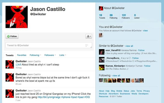 about qwikster jason castillo qwikster 19 tweets following followers listed 59 131 you and