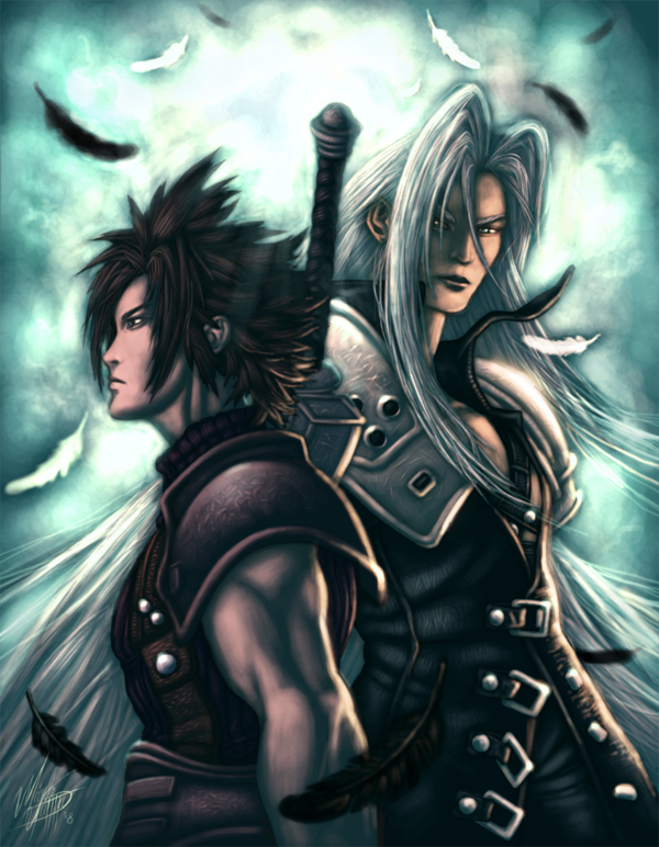 Zack u0026 Sephiroth art by Manthos Lappas  Final Fantasy VII  Know