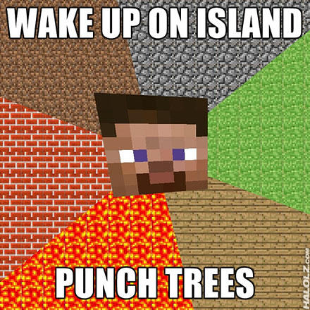 WAKE UP ON ISLAND PUNCH TREES Minecraft Roblox Text Games Pattern Font