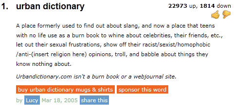 Sexual urban dictionary definitions