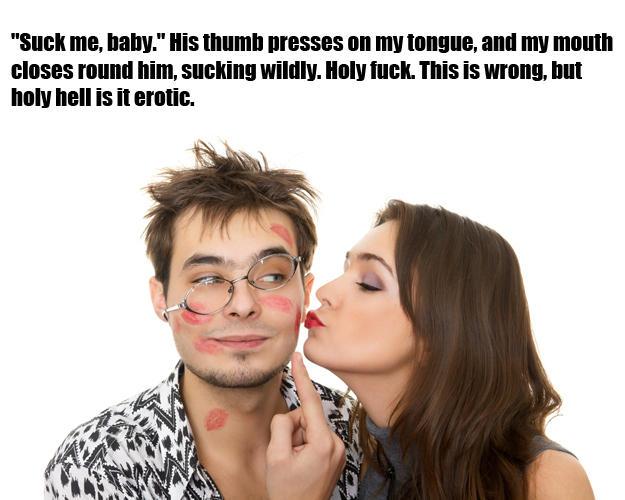 Me Baby His Thumb Presses On My Tongue
