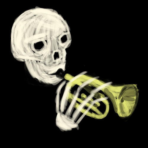 Skull Trumpet Doot Doot Know Your Meme
