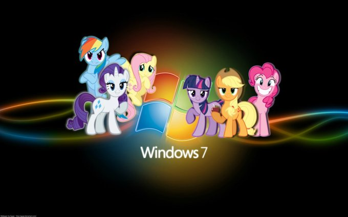 Windows 7 Pinkie Pie Vertebrate Cartoon Text Computer Wallpaper