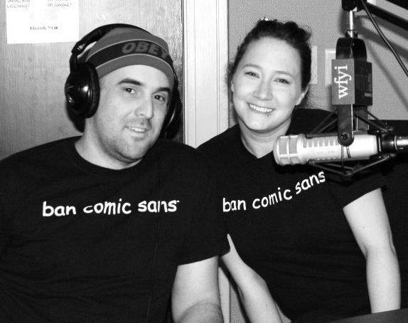 المصمم David Combs وزوجته Holly - الخط Comic Sans