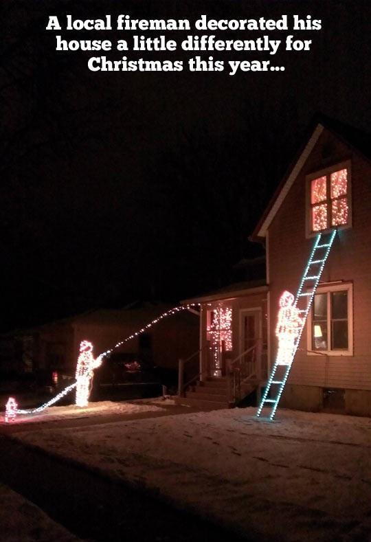 Christmas Light Meme.A Fireman S Christmas Light Decoration Holiday Light Show Videos