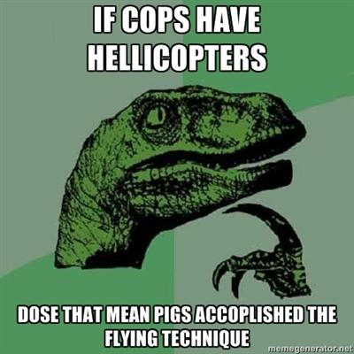 When Pigs Fly Philosoraptor Know Your Meme