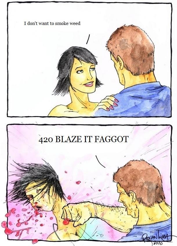boyfriend smokes weed