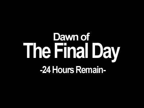 Dawn of The Final Day 24 Hours Remain- The Legend of Zelda: Majora's Mask A Hat in Time Nintendo 64 text black font black and white logo