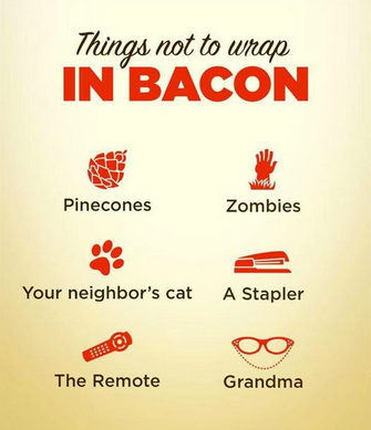 "Résultat de recherche d'images pour ""things not to wrap in bacon"""