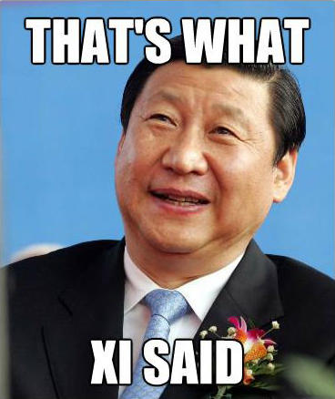 Image result for thats what xi said