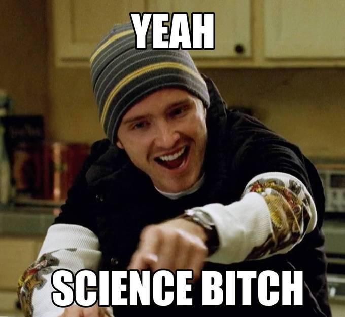 Yay Science Meme : Science meme, science is fun, science jokes, science is cool, the science cat.