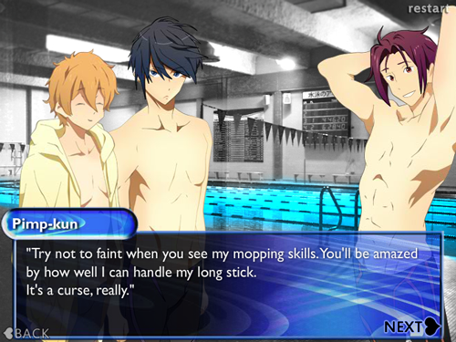 Lets read swimming anime dating sim