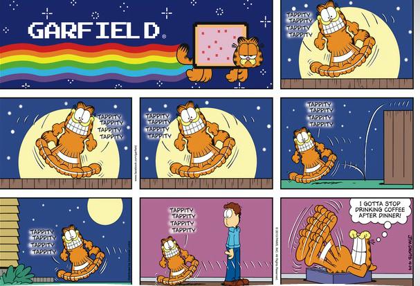 Garfield Comic Strip With Nyan Cat Logobox Nyan Cat Know Your Meme