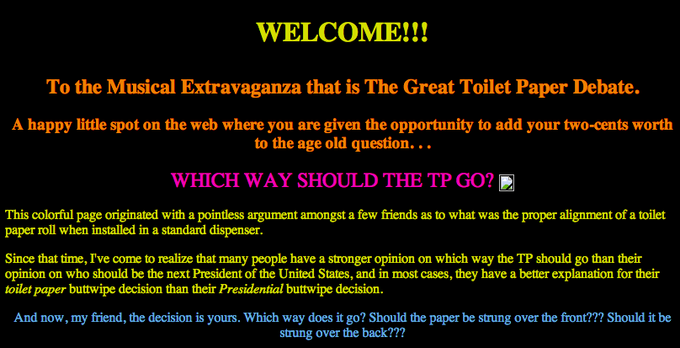 The Great Toilet Paper Debate | Know Your Meme