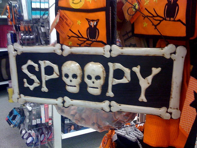Spoopy know your meme mike woodridges flickr post of a halloween sign of the word spoopy voltagebd Image collections