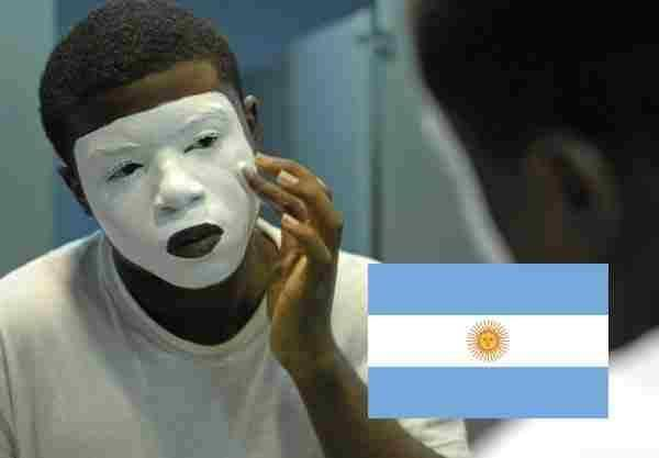 Argentina face nose head