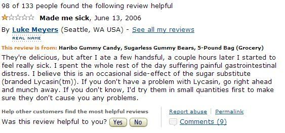 haribo sugarless gummy candy reviews know your meme
