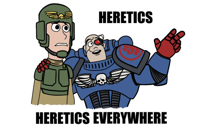Image result for BUrn the heretics meme
