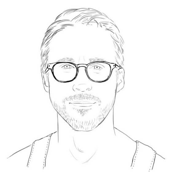 Colour Me Good Ryan Gosling 2 Face Line Art Hair Eyewear Person Nose Facial Expression Smile