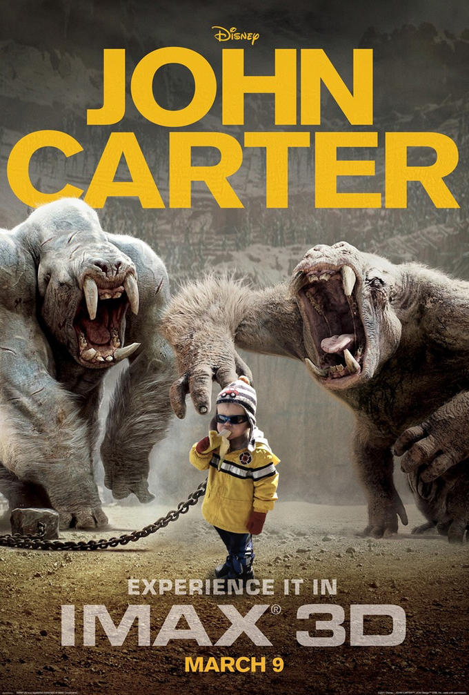 JOHN CARTER EXPERIENCE IT IN IMAX 3D MARCH 9 mammal film