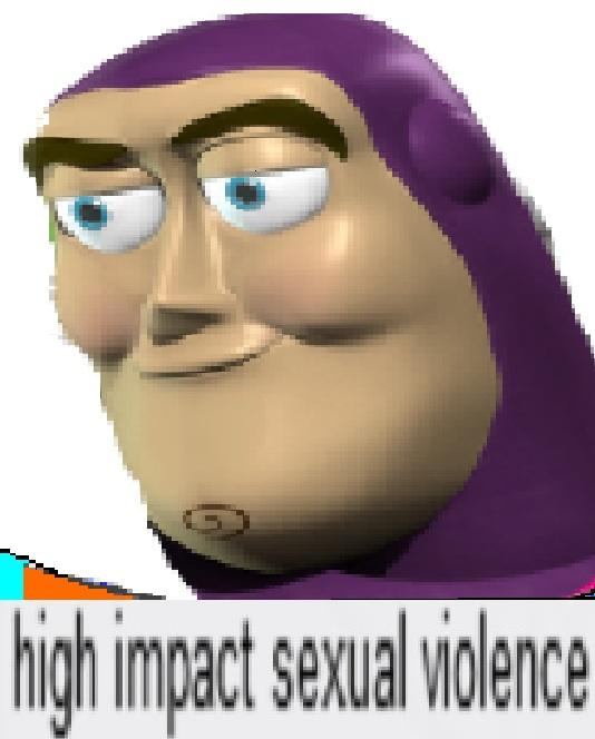 High impact sexual violence meme