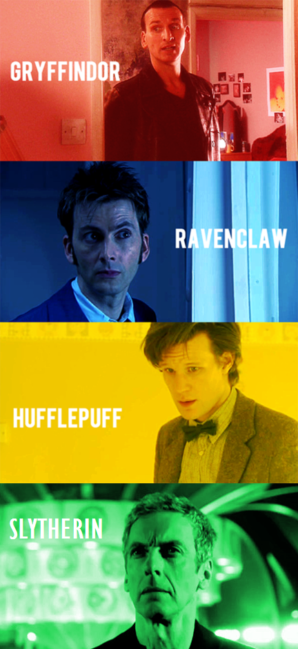 The Doctors If They Were Grouped Into Hogwarts Houses Doctor Who