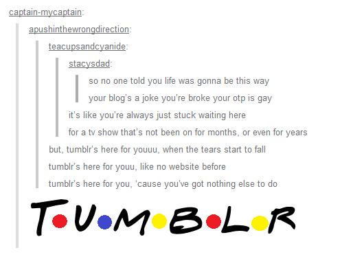 theme song tumblr fandom edition friends know your meme