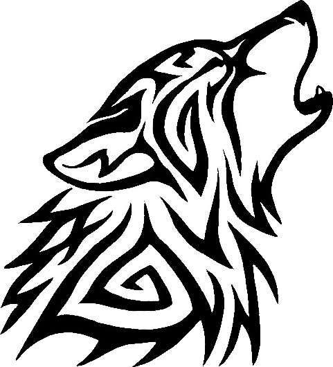 tribal wolf png