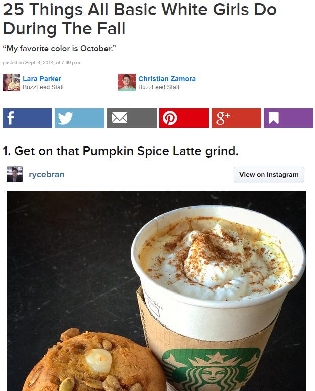 Pumpkin Spice Latte | Know Your Meme