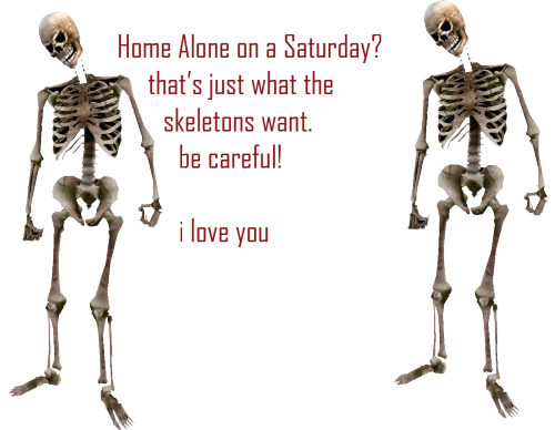 Home Alone On A Saturday Thats Just What The Skeletons Want Be