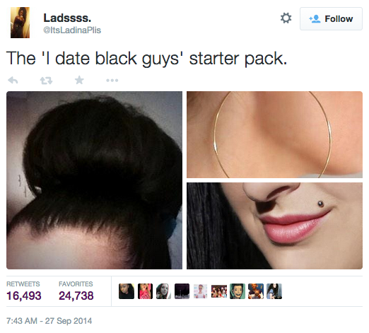 dating black guy meme