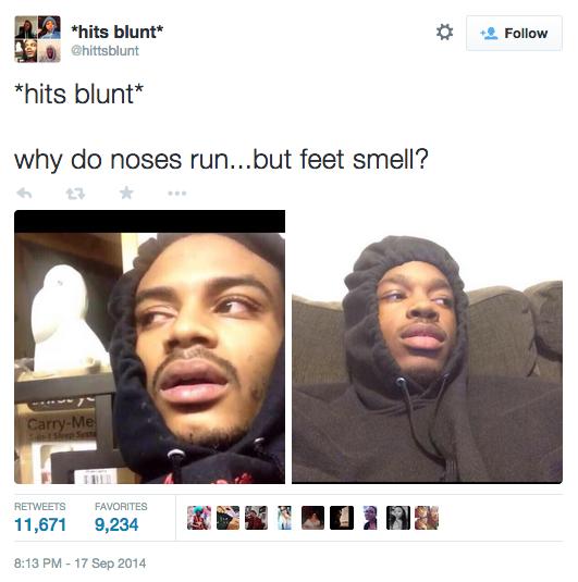 hits blunt meme