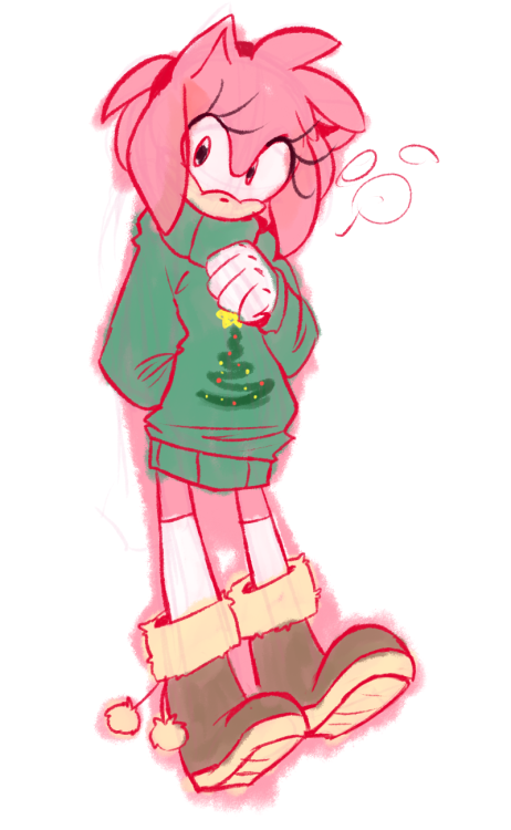 Ugly Christmas Sweater Amy Sonic The Hedgehog Know Your Meme