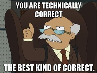 Image result for futurama technically correct gif
