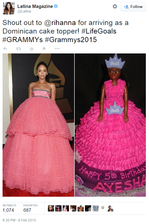 rihanna s grammy dress know your meme rihanna s grammy dress know your meme