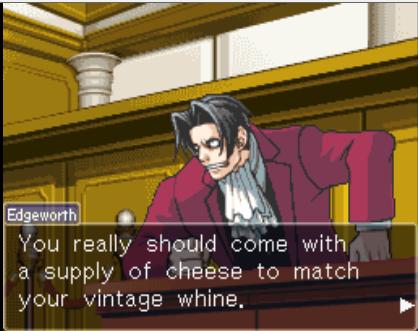Edgeworth Sets It Straight Phoenix Wright Ace Attorney Know