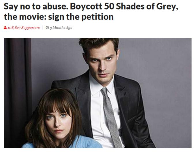 Boycott 50 Shades Of Grey  Months Ago