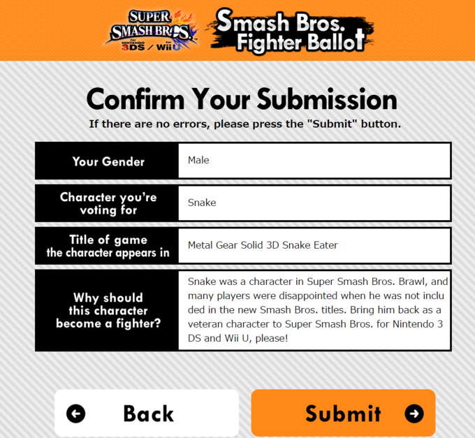 Smash Bros. Fighter Ballot | Know Your Meme