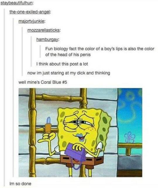 Spongebob Putting On Lipstick