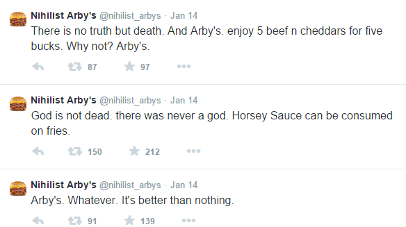 first tweets nihilist arby s know your meme