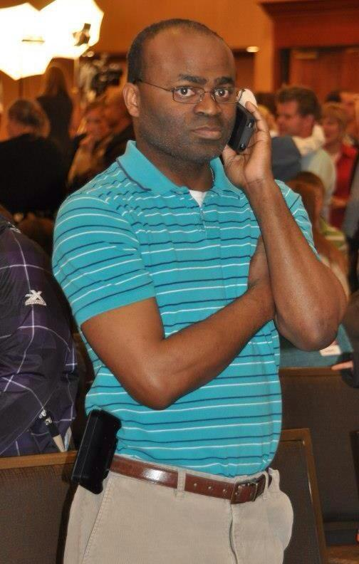 Black guy on the phone