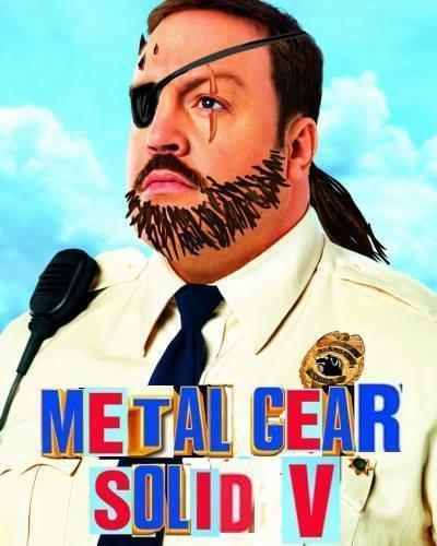 Metau Gear Olidv Kevin James Paul Blart Mall Cop Facial Hair Moustache Poster Beard Film