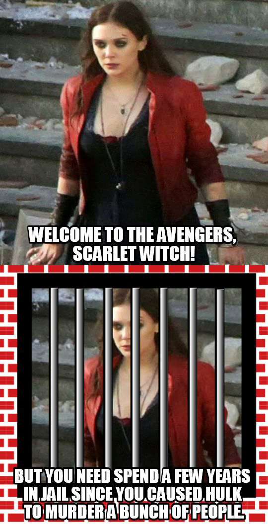 Scarlet Witch Needs To Be In Jail The Avengers Know Your Meme