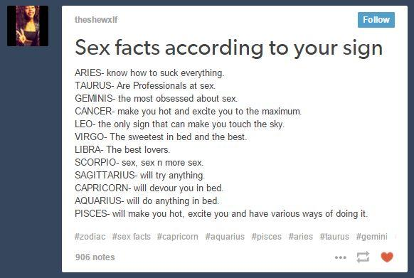 What your zodiac sign means sexually