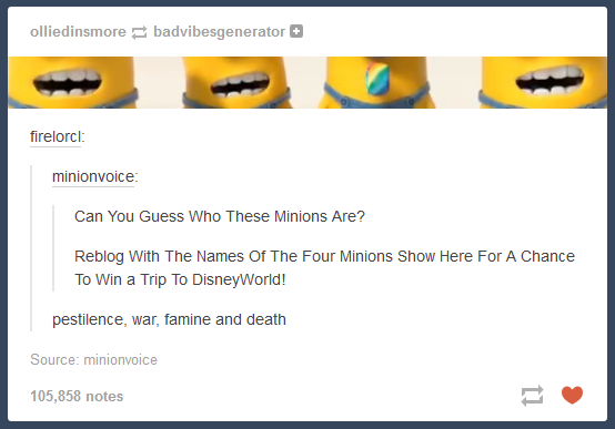 Four Minions of the Apocalypse | Minions | Know Your Meme